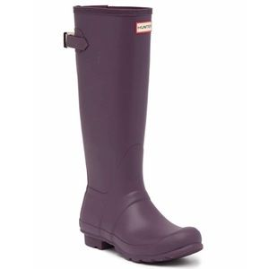 NEW Hunter Original Tall Adjustable Back Rain Boot